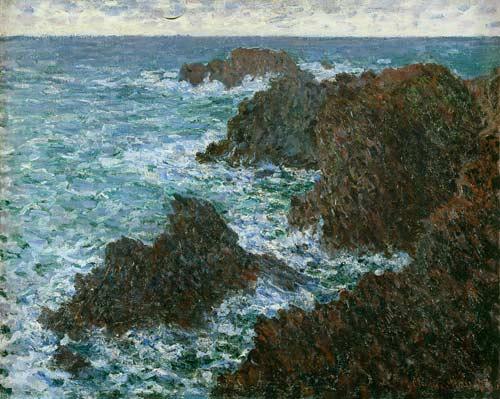 Les rochers de Belle-Ile, la Côte sauvage by Monet (1886)