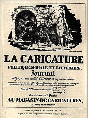 1830 issue of La Caricature