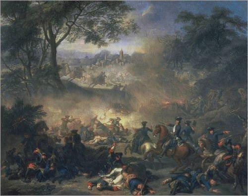 Battle of Poltava by Jean-Marc Nattier (1717)