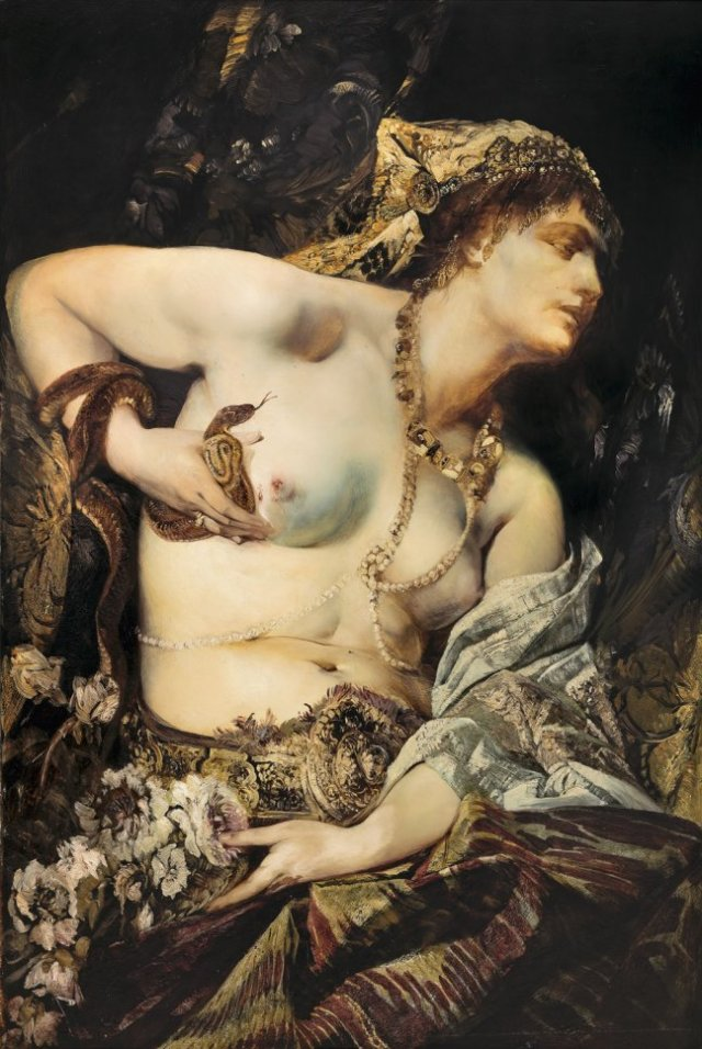 Death of Cleopatra by Hans Makart (1875)