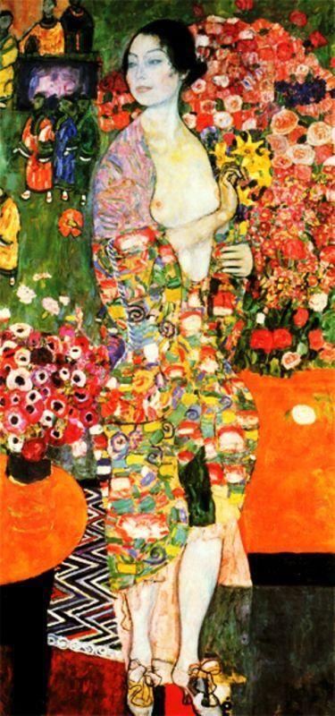 Die Tänzerin (Ria Munk II) by Gustave Klimt (1916)