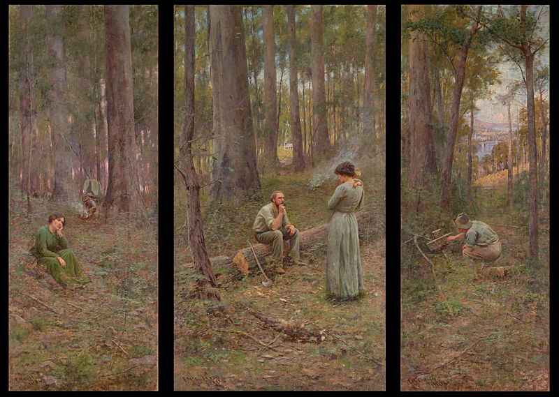 Frederick mccubbin part 3 the later years and the for Australian mural artists