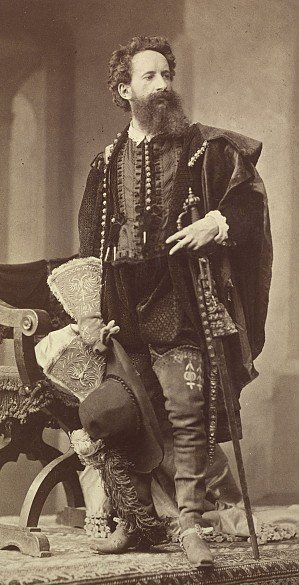 Fesselnd Hans Makart In Renaissance Costume (1879) Photogrphed By Ludwig Angerer