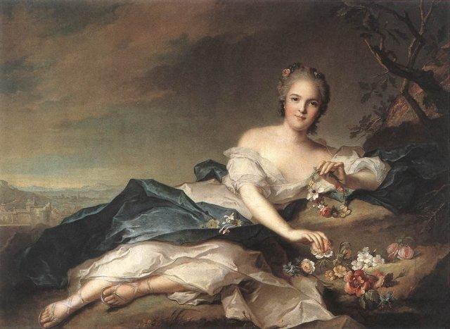 Henriette of France as Flora by Jean-Marc Nattier (1742)
