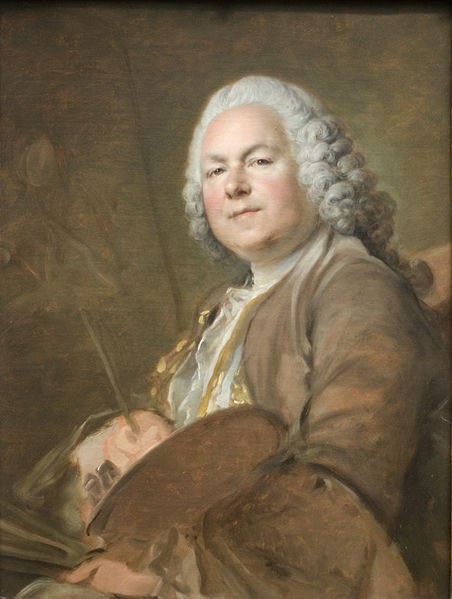 Jean-Marc Nattier by Louis Tocqué (c.1742) Toqué was taught by Nattier in the 1720's and married Nattier's daughter Marie in 1747.