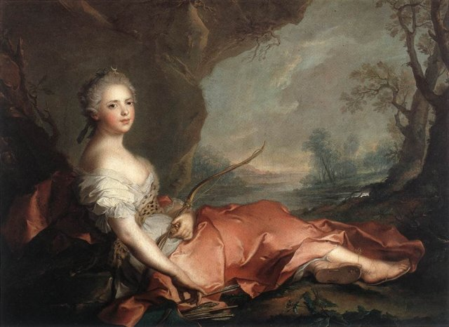 Marie Adelaide of France by Jean-Marc Nattier (1745)