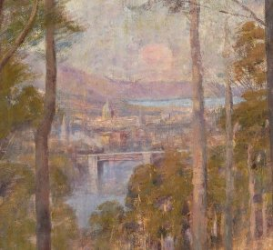 Melbourne - detail from McCubbin's painting The Pioneer