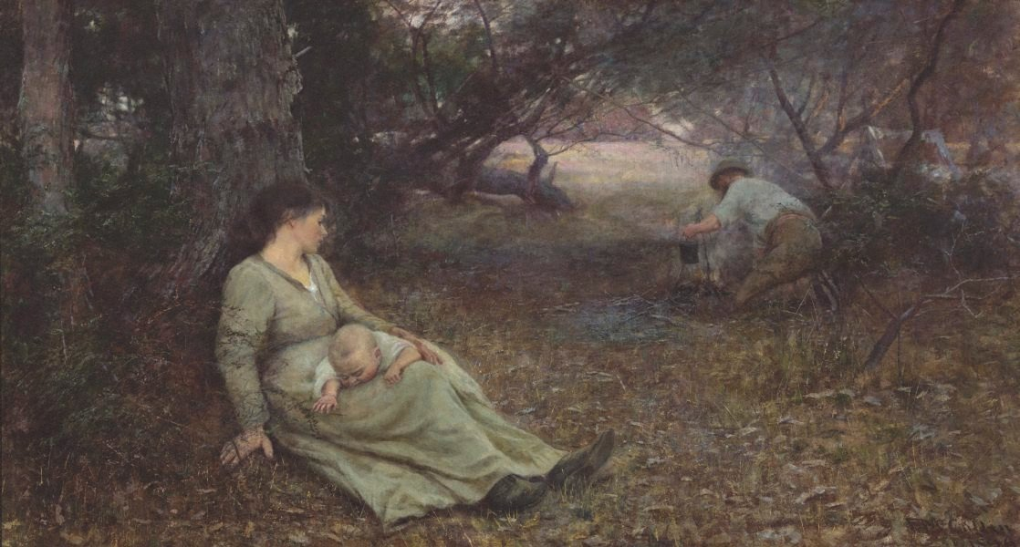 On the Wallaby Track by Frederick McCubbin (1896)