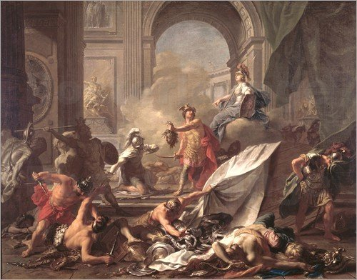 Perseus Petrifies Phineas and his Companions with the head of Medusa by Jean-Marc Nattier (1718)