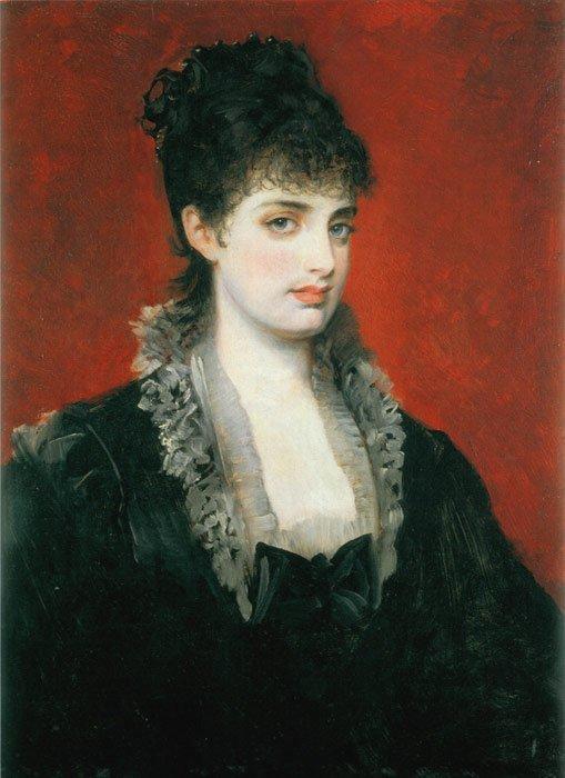 Portrait of Anna von Waldberg by Hans Makart (1883)