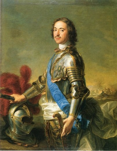 Portrait of Tsar Peter by Jean-Marc Nattier (1717)