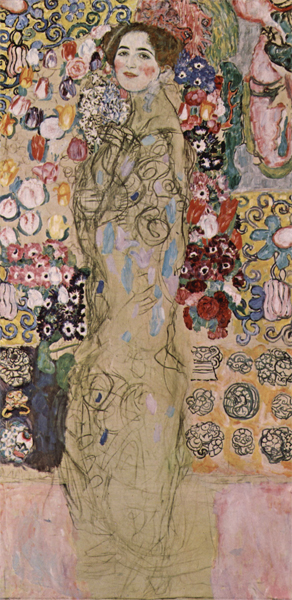 Frauenbildnis (Ria Munk III) by Gustave Klimt (1918)