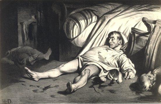 Rue Transnonain le 15 avril 1834 by Honoré Daumier (1834)