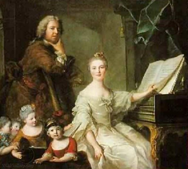 Self-Portrait with his Family, by Jean-Marc Nattier