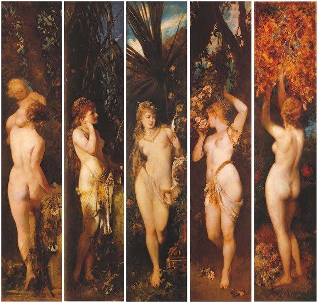 The Five Senses by Hans Makart (1872-79)