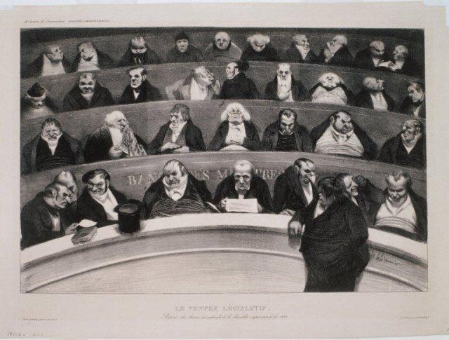 The Legislative Belly by Honoré Daumier (1834)