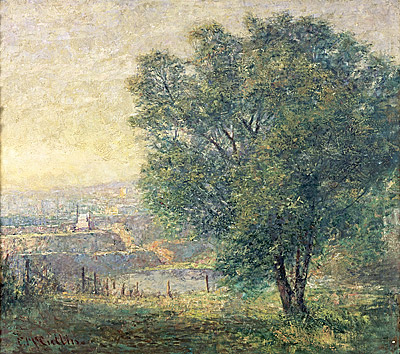 The lime tree (Yarra River from Kensington Road, South Yarra) by Frederick McCubbin (1917)