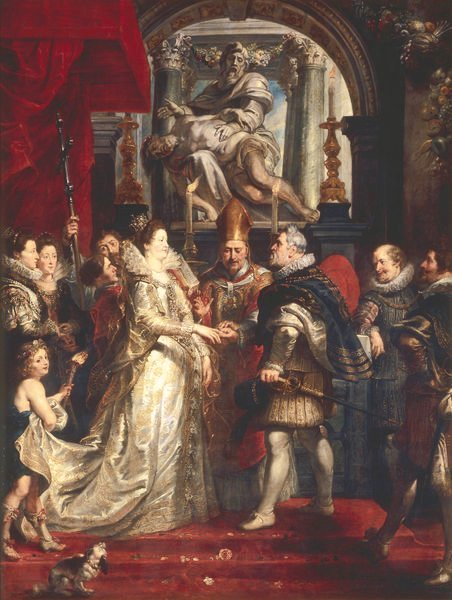 The Wedding by Proxy of Marie de' Medici to King Henry IV by Rubens (1622-1625) Part of the Marie de' Medici cycle
