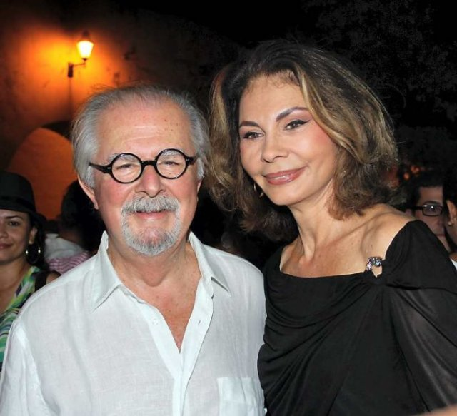 A recent photograph of Botero and his wife Sophia Vari