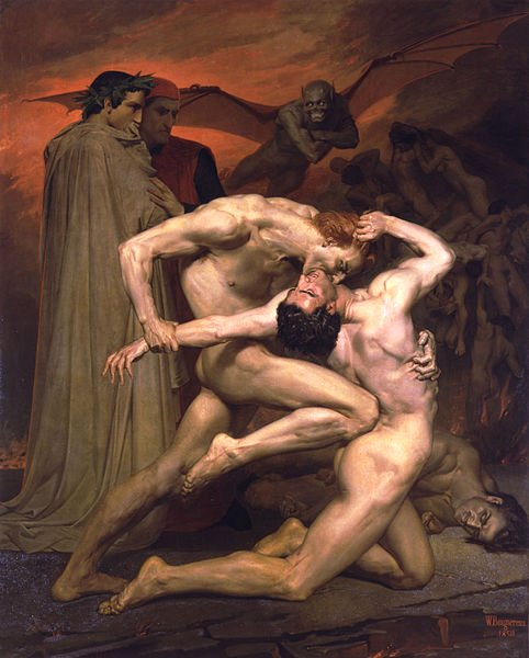 Dante And Virgil by William Bouguereau (1850)