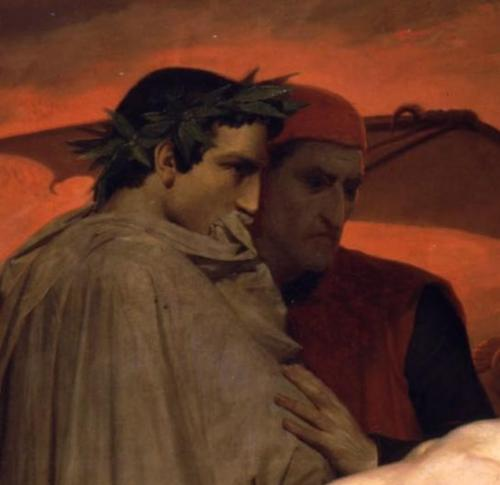 Dante and Virgil the onlookers