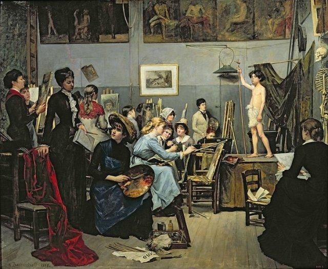 In the Académie Julien in Paris by Marie Bashkirtseff (1881)