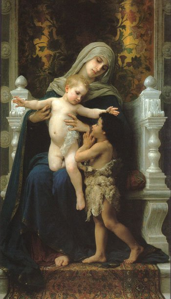 Madonna and Child with St John the Baptist by William Bouguereau (1882)