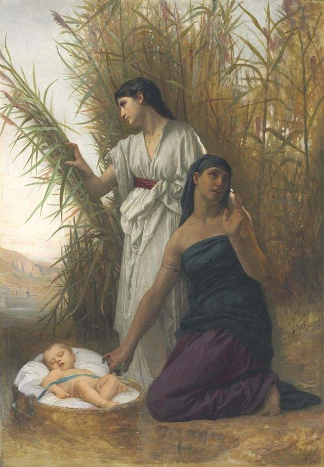 Moses in the Bullrushes by Elizabeth Jane Gardner (1878)