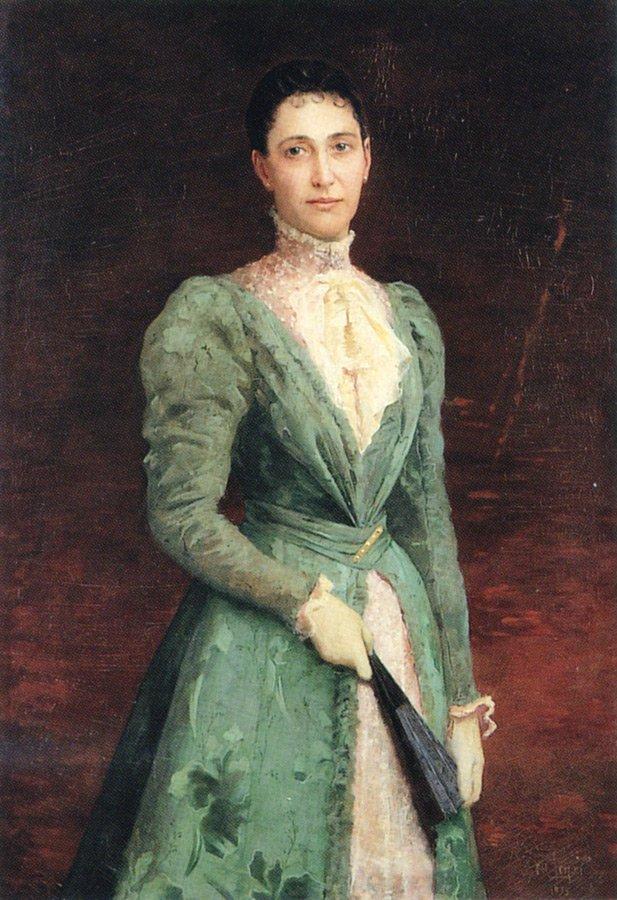 Portrait of Elizabeth Gardener Bouguereau by her husband William Bouguereau (1895)