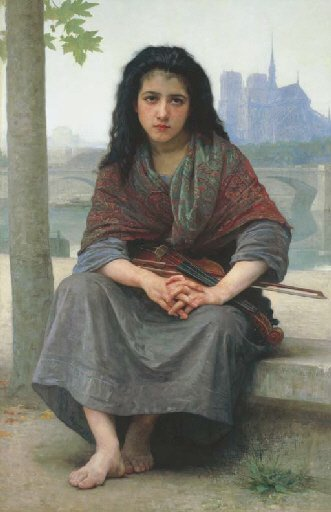 The Bohemian by William Bouguereau (1890)