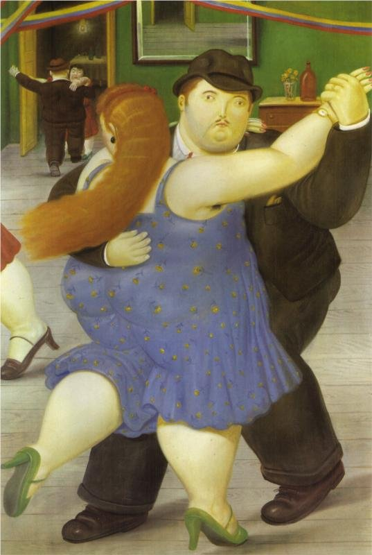 The Dancers by Fernando Botero (1987)