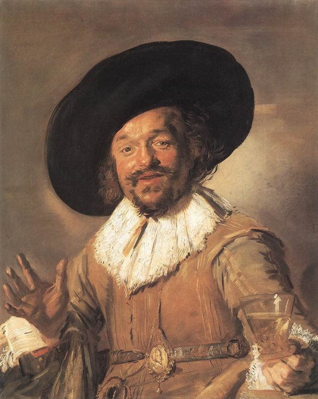 The Merry Drinker by Frans Hals (1628-30)