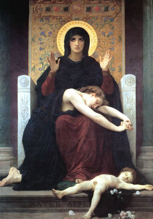 Vierge Consolatrice - The Virgin of Consolation by William Bouguereau (1875)
