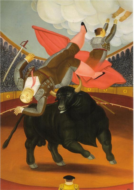The Death of Luis Chaleta by Fernando Botero (1984)
