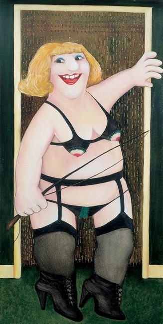 Anybody for a Whipping by Beryl Cook (1972)