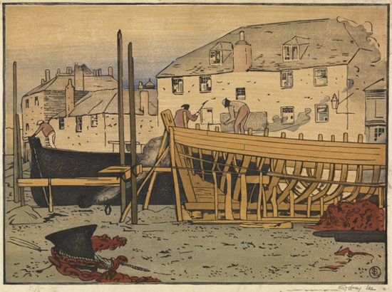 Boatbuilding, St Ives by Sydney Lee (c.1905-10)