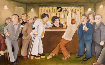 Lockyer Street Tavern by Beryl Cook