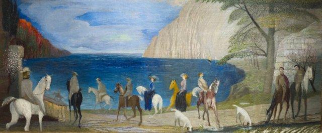 Riding on the seashore by Csontváry (1909)