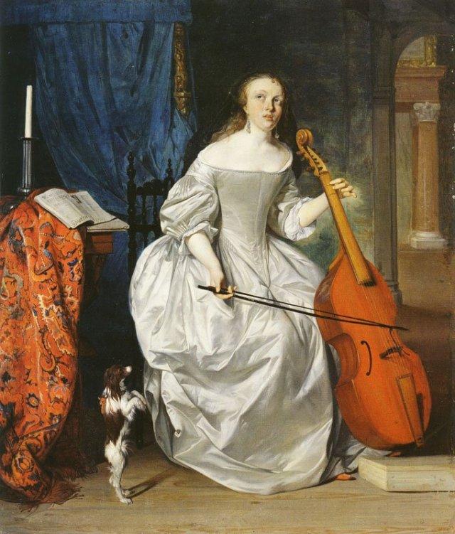 Saint Cecilia by Gabriel Metsu (1663)