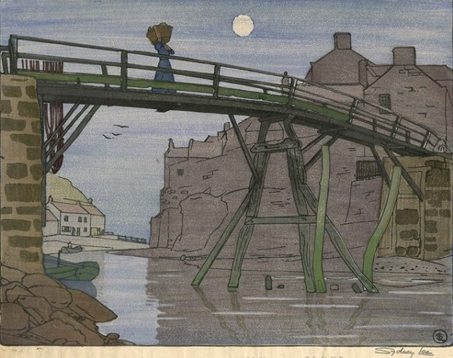 The Bridge, Staithes by Sydney Lee. (1904)