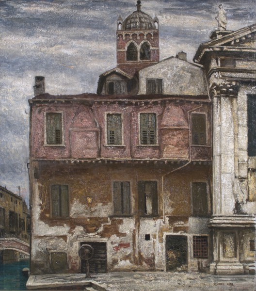 The House with closed Shutters,Venice by Sydney Lee ca. 1926. Oil on canvas