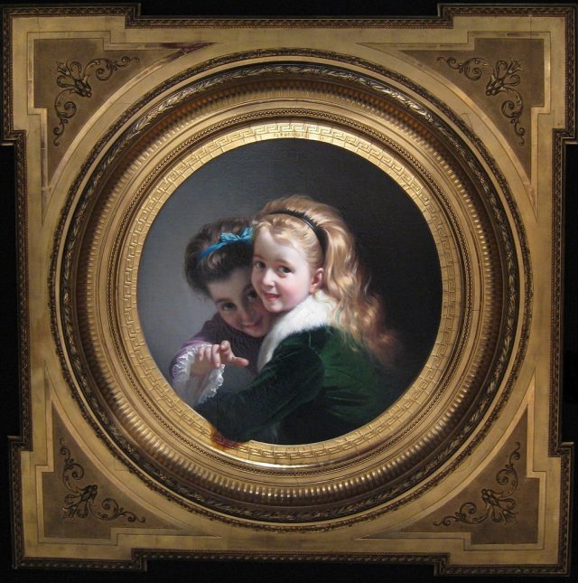 Two Laughing Girls by Pere Borrell del Caso