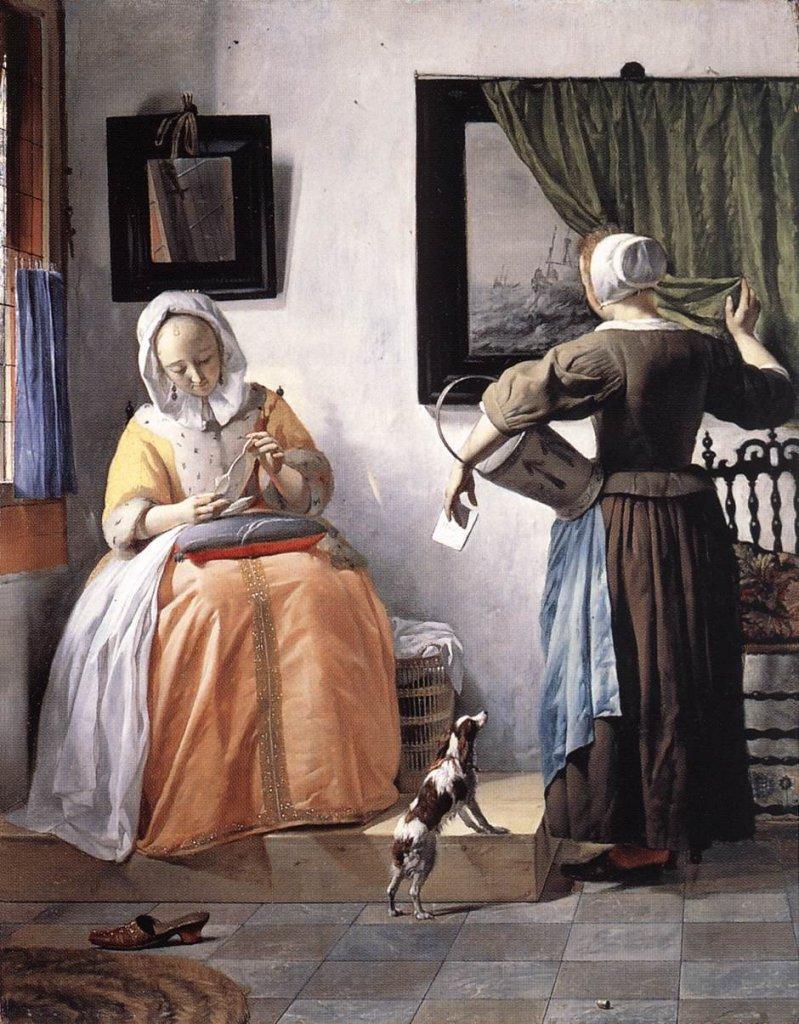 Woman Reading a Letter by Gabriel Metsu  (c. 1664-1666)