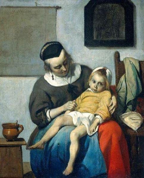 The Sick Child by Gabriel Metsu (c.1663)