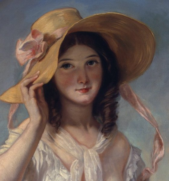Girl with Flowers (detail)