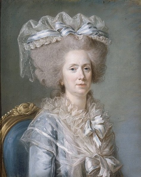 Marie Adélaïde de France, Known as Madame Adélaïde daughter of Louis XV and Marie Leszczyńska by Adélaïde Labille-Guiard (1787)