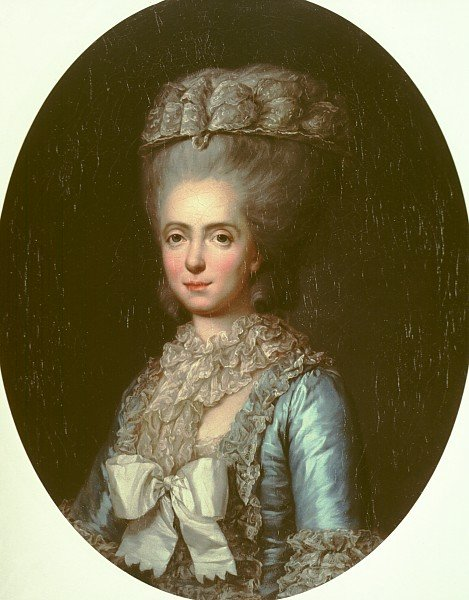 Portrait of Marie-Adelaide-Louisa de France, called Madame Adelaide by Anne Vallayer-Coster (1780)
