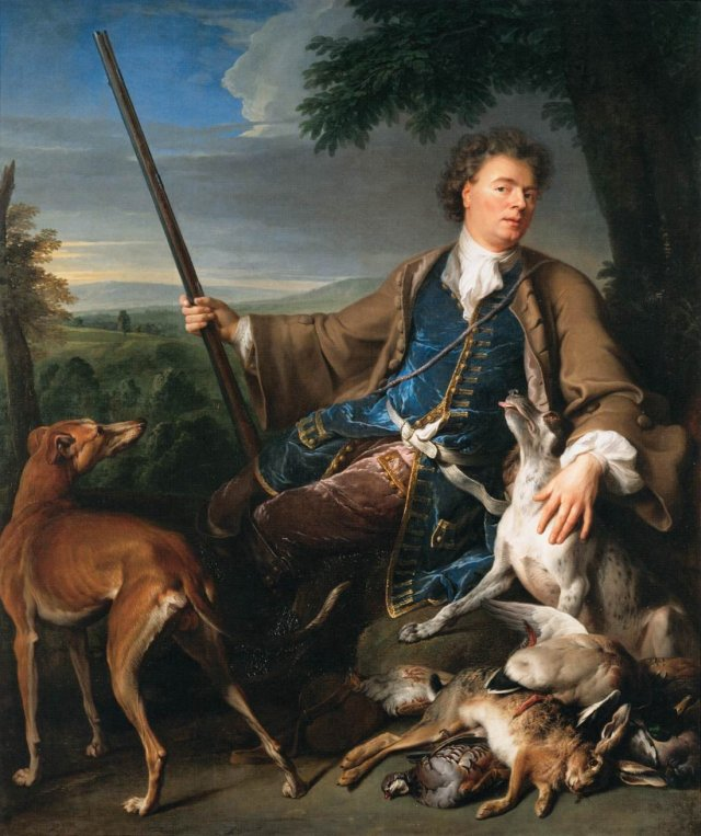 Self-Portrait as a Huntsman by Alexandre-François Desportes (1699)