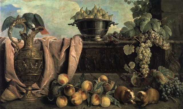 Still-Life with Ewer by Alexandre-François Desportes (1734)