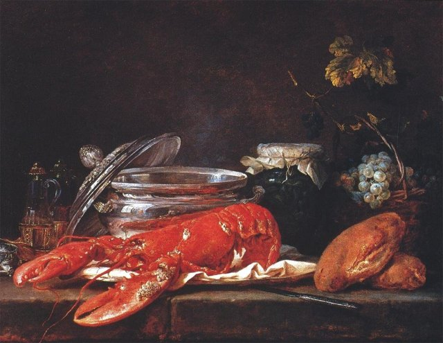 Still Life with Lobster by Anne Vallayer-Coster (1781)